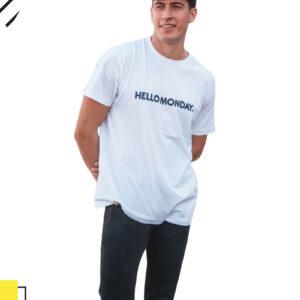 camiseta hello monday